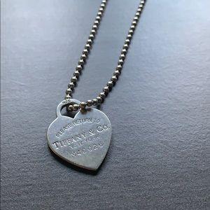 Return to Tiffany Heart Dog Tag Necklace